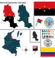 Map of Norte de Santander vector image vector image