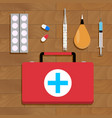 medical cure and tools vector image vector image