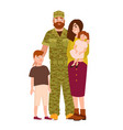 military man serviceman or soldier dressed in vector image