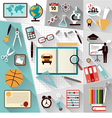 modern school workspace vector image