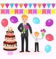mom s happy birthday family party flat vector image vector image