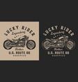 motorcycle vintage badge vector image vector image