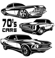 Muscle car poster vector image vector image