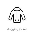 outline jogging jacket icon isolated black simple vector image vector image