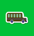paper sticker on stylish background bus vector image