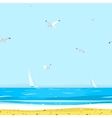 Pattern Beach vector image vector image