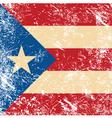puerto rico retro flag vector image