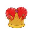 queen crown in colored crayon silhouette vector image vector image