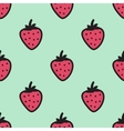 Seamless hand-drawn pattern with strawberry vector image