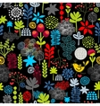 Seamless pattern with birds in the forest vector image vector image
