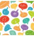 seamless pattern with colorful speech bubbles vector image