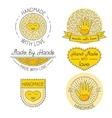 set badges labels design elements vector image
