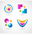 set of colorful icons vector image vector image