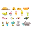 set of food and kid things vector image vector image