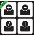 set of four icons - black bust vector image