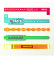 set of isolated arm bracelets or wristlets vector image vector image