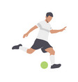 soccer players silhouettes color vector image