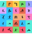 Sports icons set Black and color vector image vector image