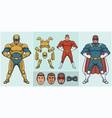 super hero creator vector image vector image