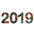 symbol 2019 vector image vector image