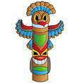 tall indian totem vector image