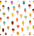 tasty colorful ice cream seamless pattern sweet vector image vector image