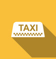 taxi car roof sign icon isolated with long shadow vector image