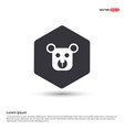 teddy bear icon hexa white background icon vector image