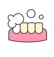 teeth whitening or cleaning dental related icon vector image vector image