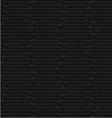 Textured black plastic wavy hexagons vector image vector image