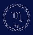 virgo astrology zodiac virgin sign isolated circle vector image