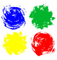 watercolor circles vector image