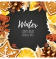 Winter card with gingerbread