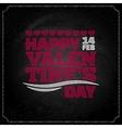 valentines day chalkboard design background vector image
