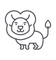 cute lion line icon sign o vector image
