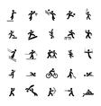 Sports icons set Black vector image