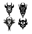 Set of infernal characters for the holiday of vector image