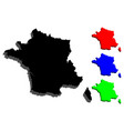 3d map of france vector image vector image