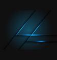 abstract blue light line on dark grey geometric vector image vector image