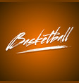 abstract inscription basketball vector image