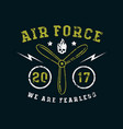 air force emblem in thin line style vector image vector image