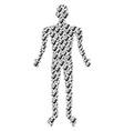alien embryo person figure vector image vector image