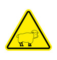 attention of sheep caution farm is an animal vector image