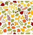 Autumn background with leaves seamless pattern vector image vector image