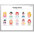 avatar icon flat pack vector image