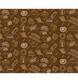 Bakery seamless pattern Line outline doodle vector image vector image