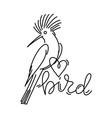 bird lover vector image vector image