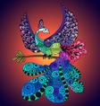Bird Phoenix violet vector image vector image