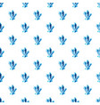 blue crystals pattern vector image vector image
