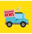breaking news concept icon vector image vector image